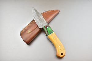 Damascus Steel Skinner - TBP-410 - The Blade Point