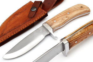 Outdoor Hunting Knife TBP 717 OLIVE WOOD Handle - The Blade Point