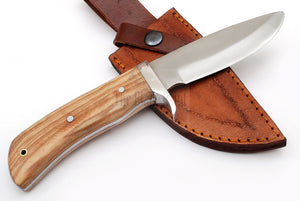 Outdoor Hunting Knife TBP 717 OLIVE WOOD Handle