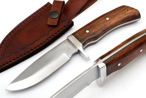 Outdoor Hunting Knife WALNUT WOOD Handle TBP 717 - The Blade Point
