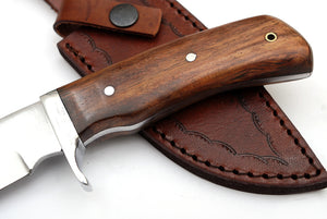 Outdoor Hunting Knife WALNUT WOOD Handle TBP 717