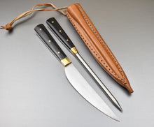 Handmade Medieval Knife and Pricker Set Bone Handle Leather Sheath TBP-237 - The Blade Point