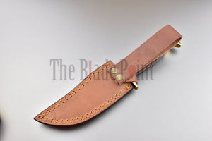 Damascus Steel Hunting Knife - TBP-670 - The Blade Point