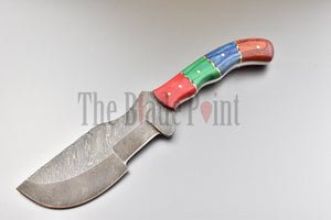 Damascus Tracker Knife - TBP-107 - The Blade Point