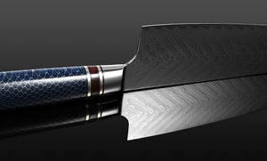 Japanese Chef Knife Damascus VG10 Knife Honeycomb Feather Pattern Kitchen Knife - The Blade Point