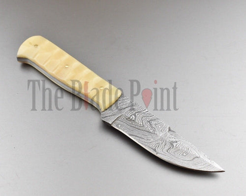 Handmade Damascus Steel EDC Skinner/Hunting Knife - TBP-680 - The Blade Point