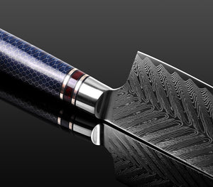 Japanese Chef Knife Damascus VG10 Knife Honeycomb Feather Pattern Kitchen Knife