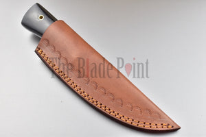 Custom Handmade Damascus Steel Bushcraft Puukko Knife and Sheath - TBP-302 - The Blade Point