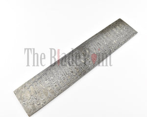 Damascus Steel Blank Blade Billet - Forged with 1095 and 15N20 steel - The Blade Point