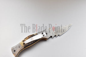 EDC Damascus Pocket Folder - TBP-751 - The Blade Point
