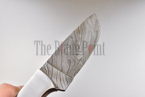 Damascus Steel Skinner Hunting Knife - TBP-657 - The Blade Point