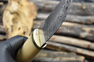 Handmade Damascus Bushcraft Puukko Knife - TBP-212 - The Blade Point