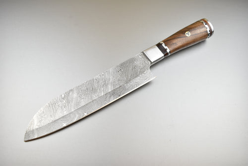 Hand Forged Damascus Steel Professional Chef Knife - The Blade Point