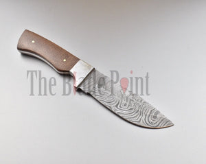 Damascus Drop Point Hunting Knife - TBP-622