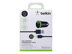 iPhone iPad cargador carro Belkin