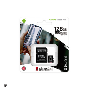MicroSD 128Gb Kingston Canvas Select Plus clase 10