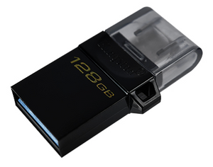 Memoria USB-C 128Gb Kingston MicroDuo 2G