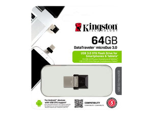 Memoria USB OTG para celular 64Gb Kingston MicroDuo