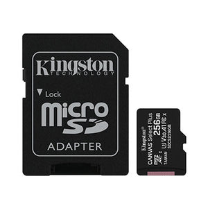 MicroSD 256Gb Kingston Canvas Select Plus U3 V30 A1