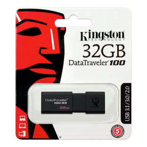 Memoria USB 32Gb Kingston DT 100 G3 3.0
