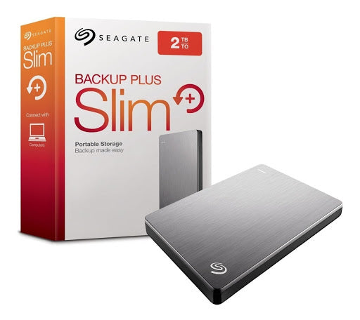 Disco duro externo USB 2Tb Seagate Backup Plus Slim