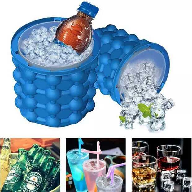 Silicone ice bucket for drinking