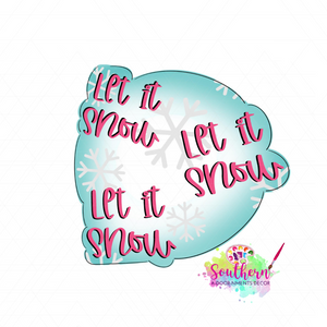 Let It Snow Bubble Template & Digital Cut File