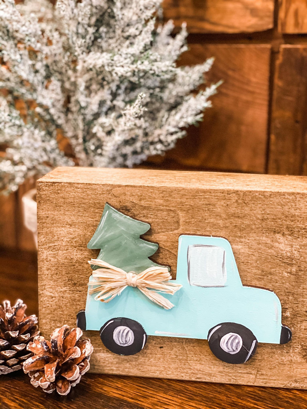 Tiny Christmas Truck- Set of 3
