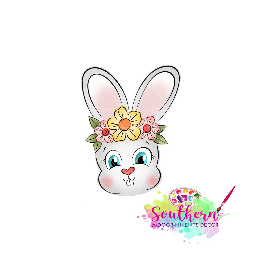 Bunny with Flower Crown Blank