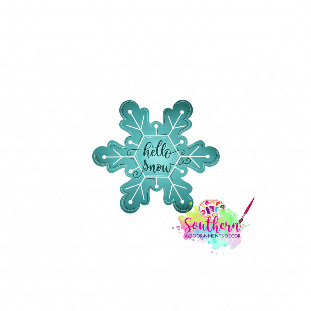 Hello Snow Template & Digital Cut File