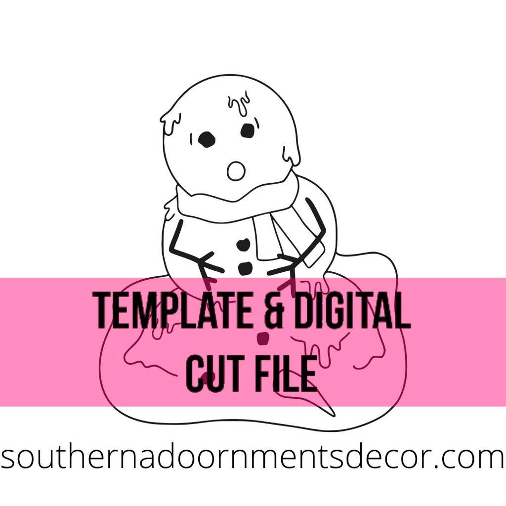 Melting Snowman Template & Digital Cut File