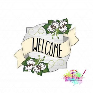 Welcome Cotton Template & Digital Cut File
