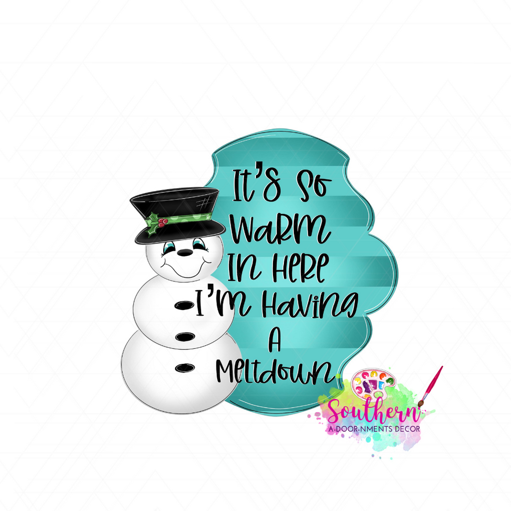 Snowman Meltdown Template & Digital Cut File