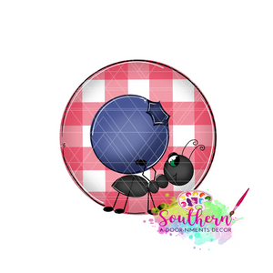 Ant with Blueberry Template & Digital Cut File