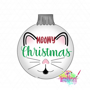 Meowy Christmas Template & Digital Cut File