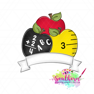 School Apples Template & Digital Cut File