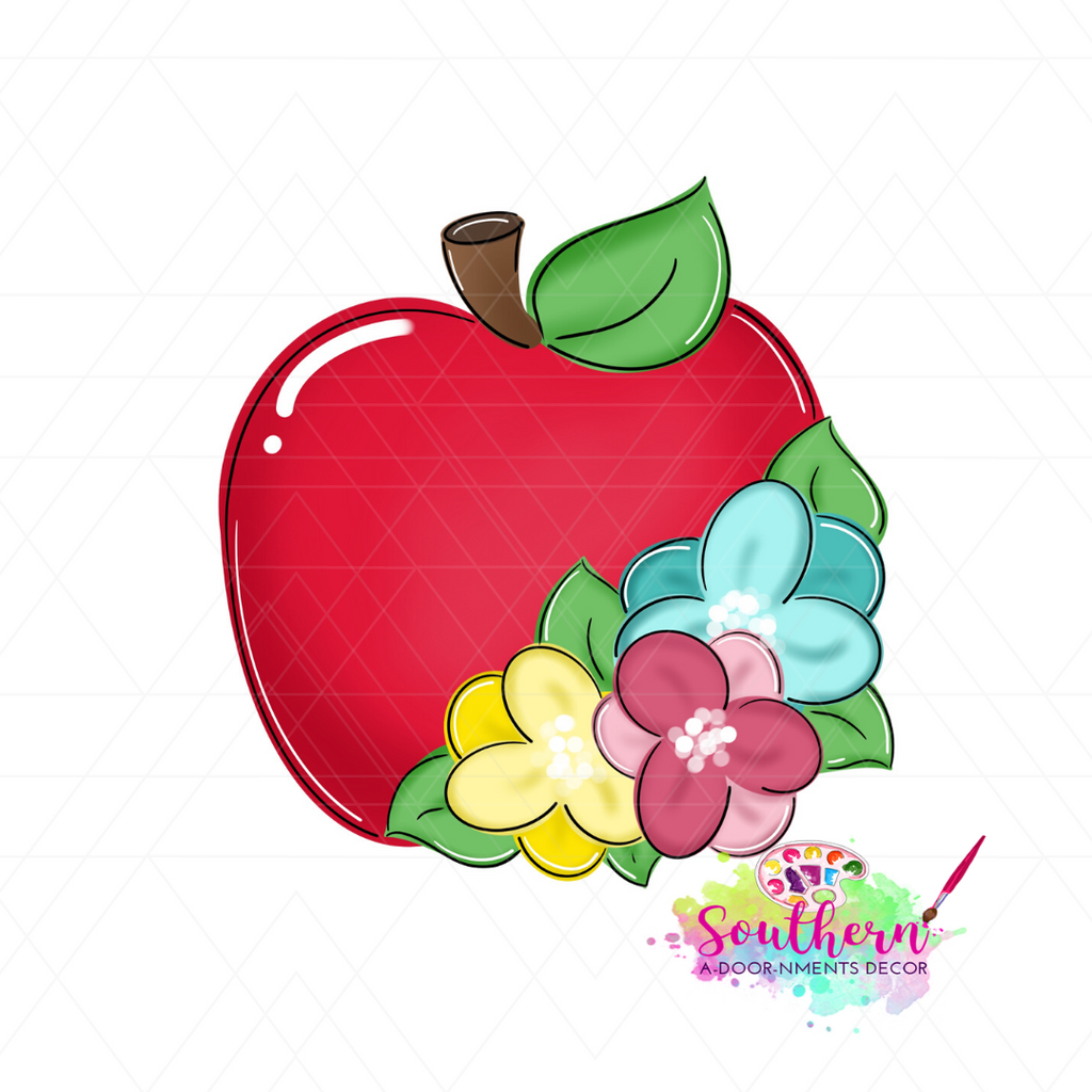 Floral Apple BLANK