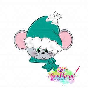 Christmas Mouse Template & Digital Cut File
