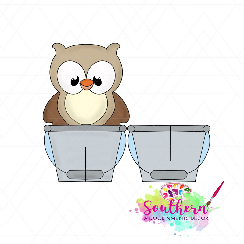 Owl Sitter Template & Digital Cut File