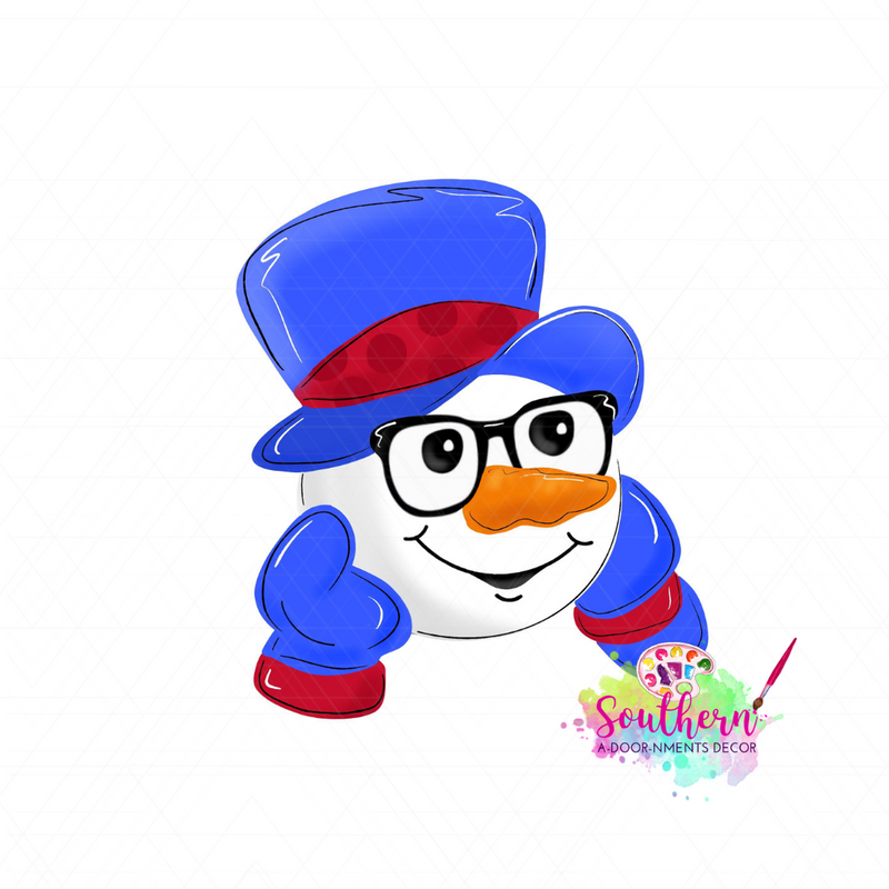 Snowman with Hat Template & Digital Cut File