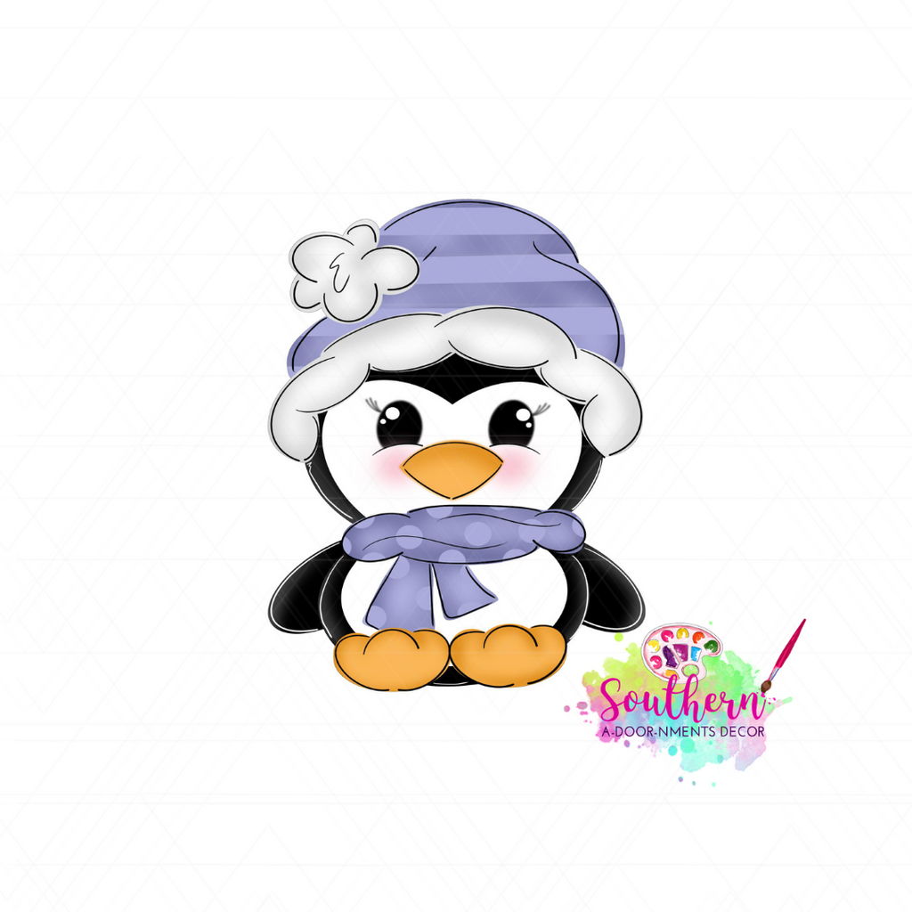 Winter Penguin Blank
