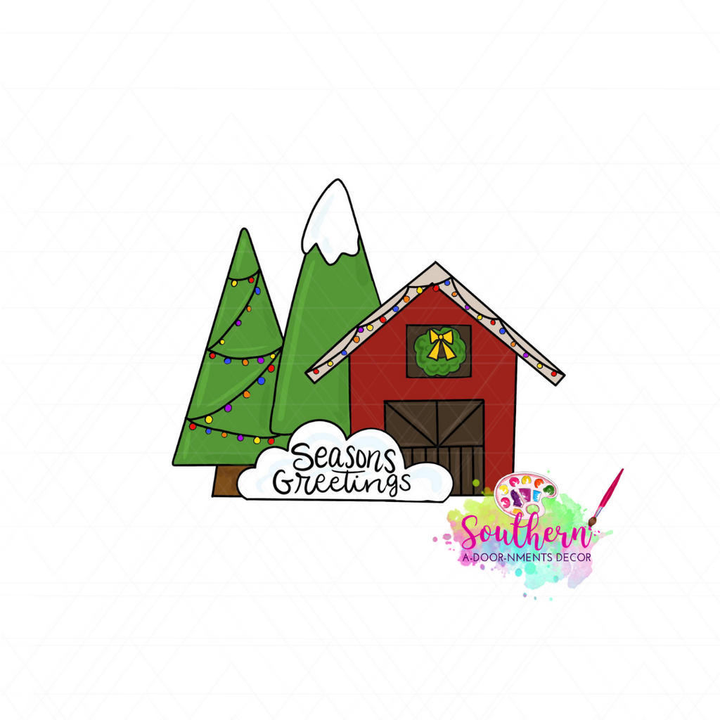Christmas Barn Template & Digital Cut File