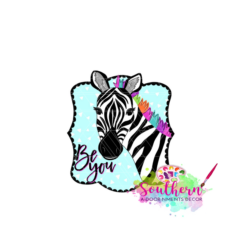 Zebra Be You Template & Digital Cut File