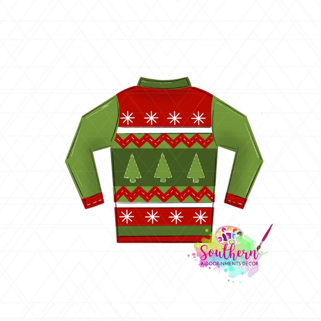 Christmas Sweater Template & Digital Cut File