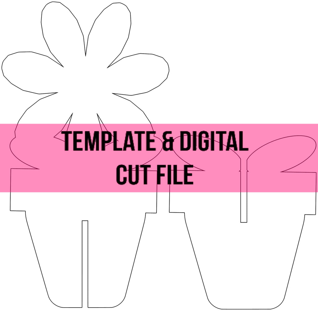 3D Flower Pot Template & Digital Cut File