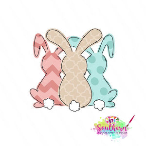 3 Bunnies Template & Digital Cut File