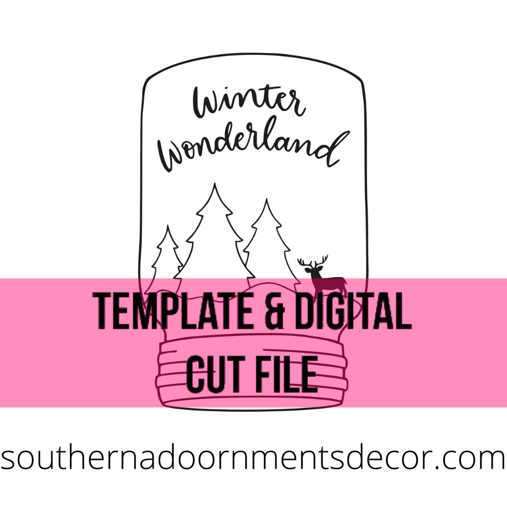 Winter Wonderland Template & Digital Cut File