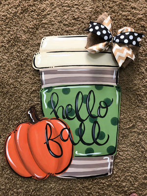 Pumpkin and Latte Template & Digital Cut File