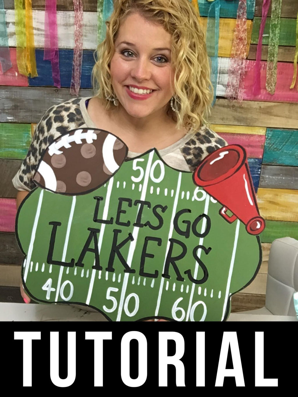 Football Sign Door Hanger - Instructional Video Tutorial