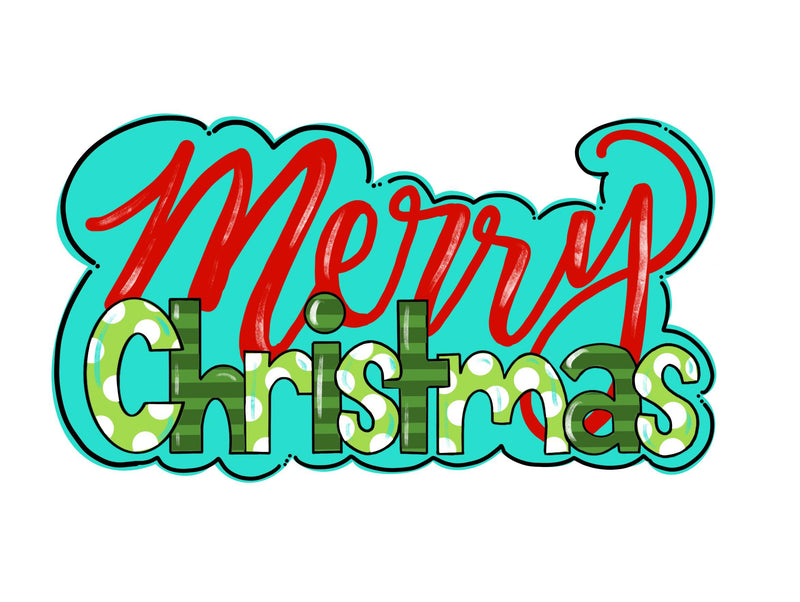 Merry Christmas Template & Digital Cut File